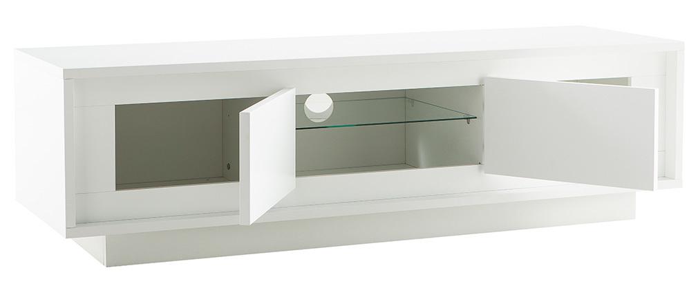 Mueble TV moderno blanco con almacenaje LAND