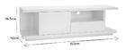 Mueble TV moderno blanco lacado brillante L150 cm KARY