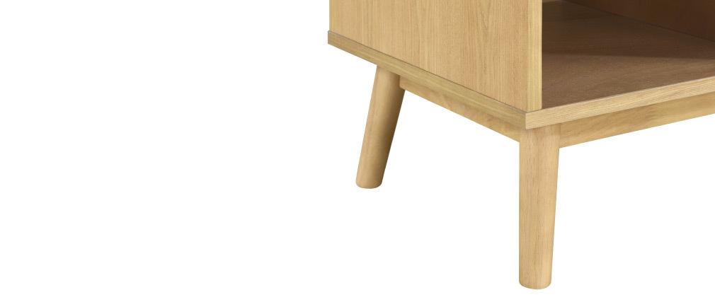 Mueble TV nórdico madera clara y blanco 1 cajón TALIA