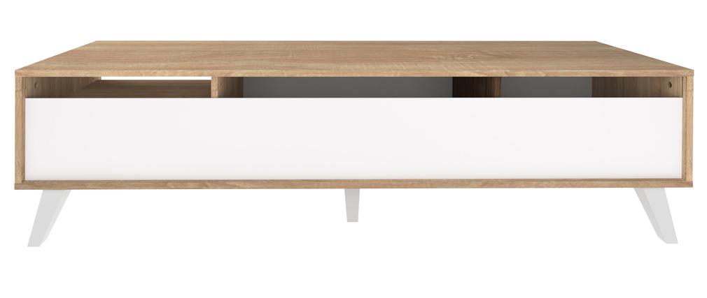Mueble TV nórdico madera y blanco ORIGAMI