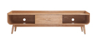 Mueble TV vintage madera fresno 180 cm HALLEN