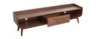 Mueble TV vintage madera nogal 180 cm HALLEN