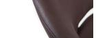 NEPTUNE - Taburete de diseño marrón envejecido