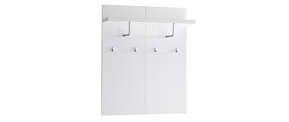 Perchero de pared blanco lacado L102 cm WELCOME