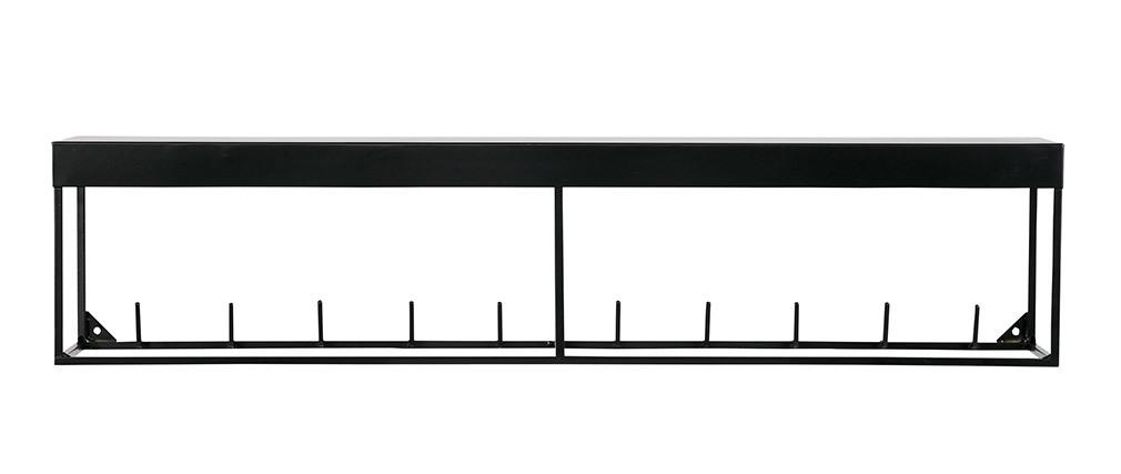 Perchero de pared metal negro 90cm PEG