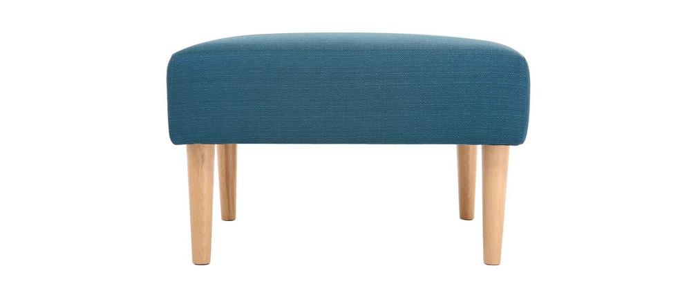 Pouf / reposa pies diseño azul OSCAR