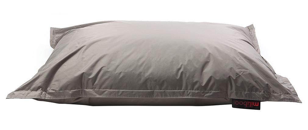 Puf gigante de diseño gris claro BIG MILIBAG