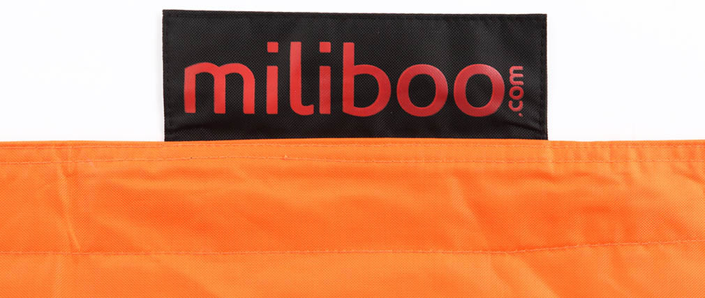 Puf gigante de diseño naranja BIG MILIBAG