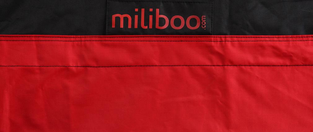 Puf gigante de diseño negro y rojo BIG MILIBAG