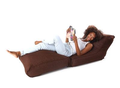 Puf lounge lino chocolate MILIBED