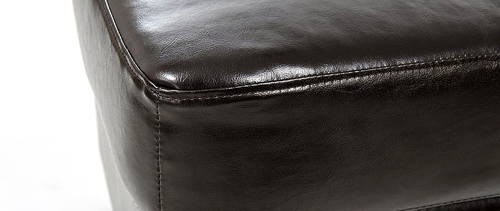 Puf / reposa pies CLUB piel marrón