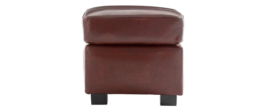 Puf / reposa-pies CLUB piel marrón claro
