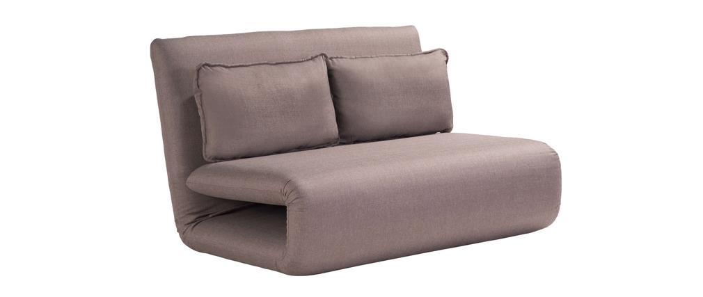 Puf sofá convertible 2 plazas diseño color topo SLEEPER