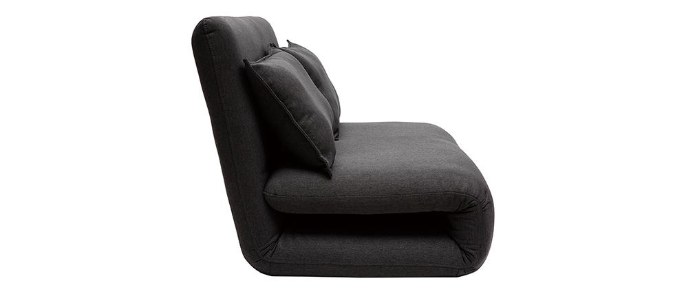 Puf sofá convertible 2 plazas diseño gris antracita SLEEPER