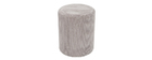 Puff en terciopelo gris D40 cm DUROY