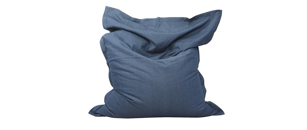 Puff gigante en algodón azul jean BIG MILIBAG