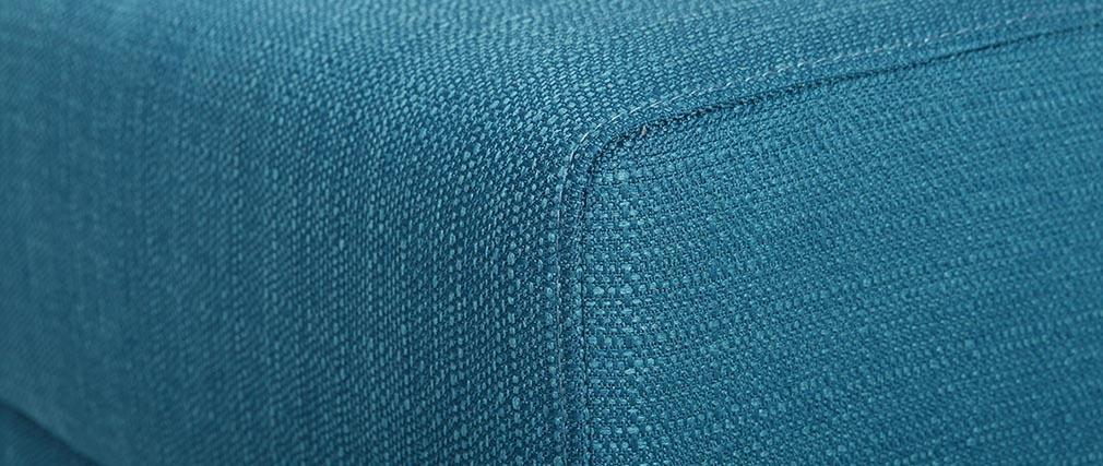 Puff / reposapiés tejido azul petroleo ULLA