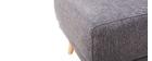Puff / reposapiés tejido gris oscuronaturel ULLA