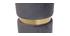 Puuf redondo en terciopelo gris y metal dorado JOY