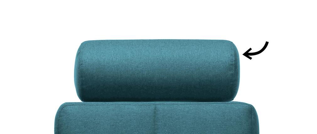 Reposacabezas amovible en tejido azul petróleo ELFE