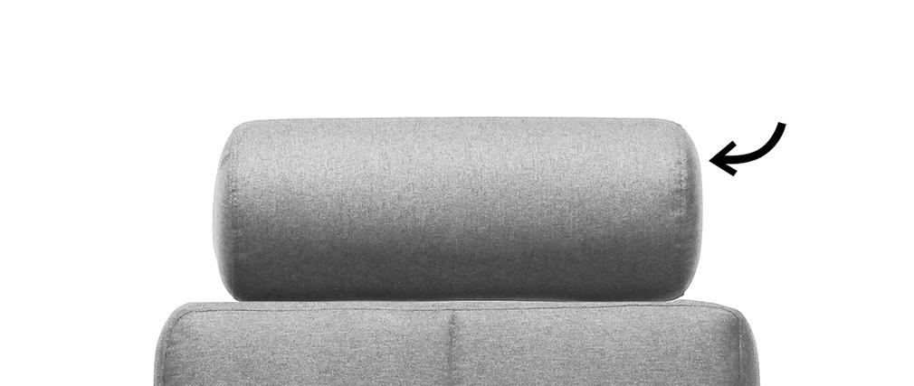 Reposacabezas amovible en tejido gris claro ELFE