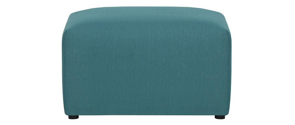 Reposapiés moderno tejido azul petróleo MODULO