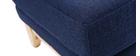 Reposapiés puff nórdico azul oscuro OSLO