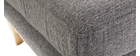 Reposapiés puff nórdico gris claro OSLO