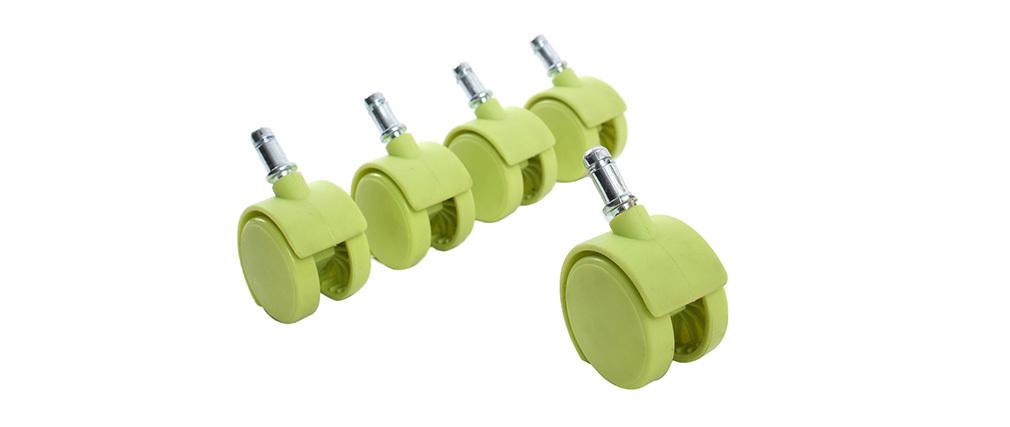 Ruedecillas verdes compatibles base blanca