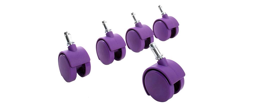 Ruedecillas violetas compatibles base blanca