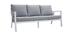 Salón de jardín 7 plazas con mesa de comedor en aluminio y tejido gris CALYPSO