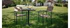 Salón de jardín con mesa bistro y 2 sillas negro y madera PUB
