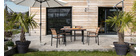 Salón de jardín con mesa y 4 sillas blanco y gris VIAGGIO