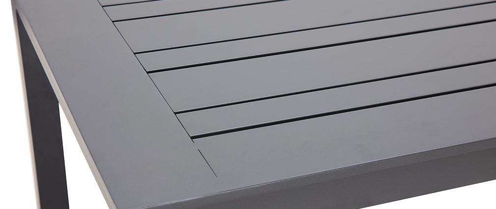 Salón de jardín en aluminio y cuerdas grises LAGOS
