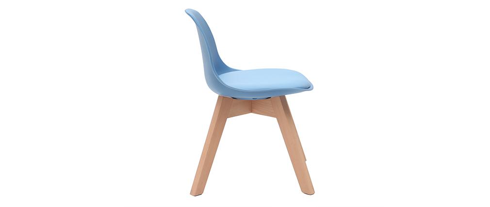 Silla azul con patas madera BABY PAULINE