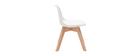 Silla blanca con patas madera BABY PAULINE