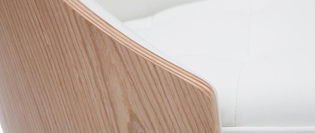 Silla blanca y madera clara FLUFFY
