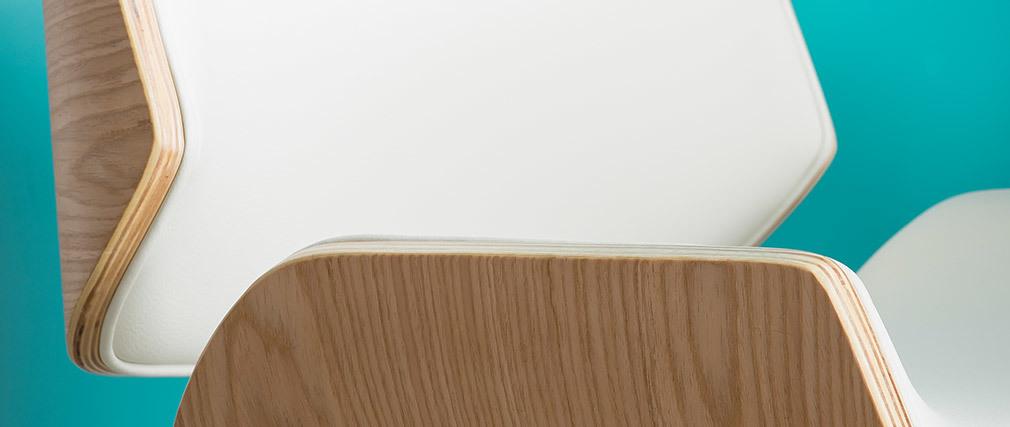 Silla blanca y madera clara RUBBENS