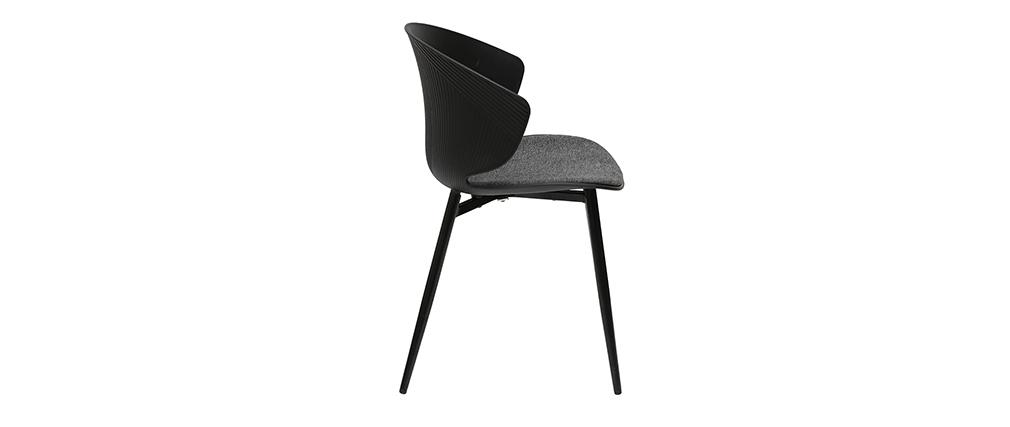 Silla contemporánea negro y gris WING