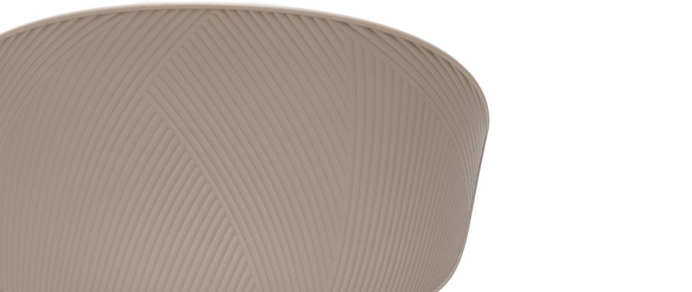 Silla contemporánea topo y beige claro WING