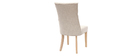 Silla de comedor estilo clásico tejido natural patas madera clara VOLTAIRE