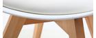 Silla de diseño blanco lote de 4 PAULINE