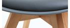 Silla de diseño gris lote de 4 PAULINE