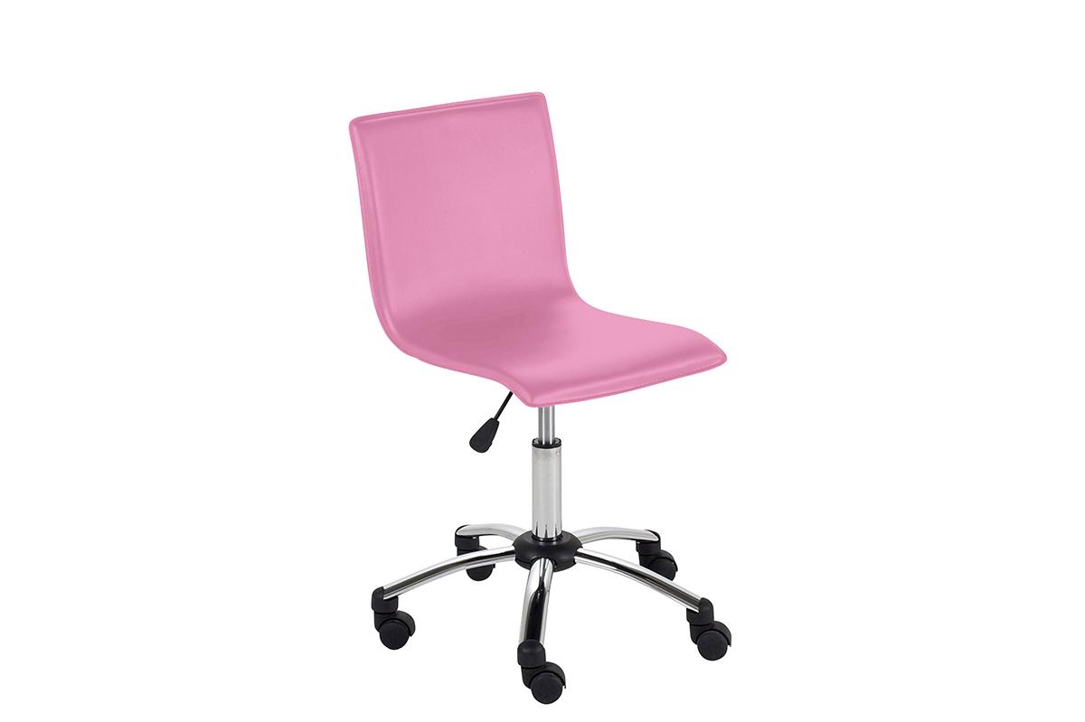 silla de escritorio con ruedas para ni a pvc rosa baxy