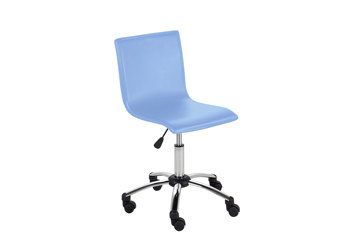 silla de escritorio con ruedas para ni o pvc azul baxy On sillas de escritorio para ninos con ruedas