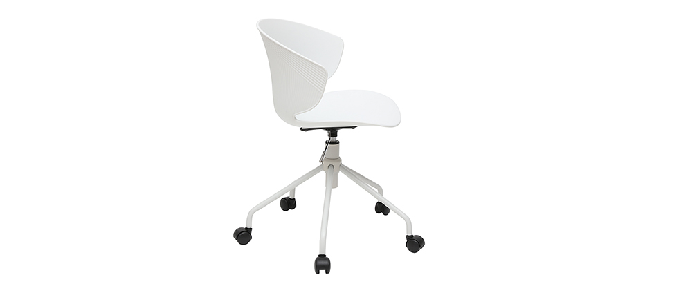 Silla de escritorio contemporánea blanca WING