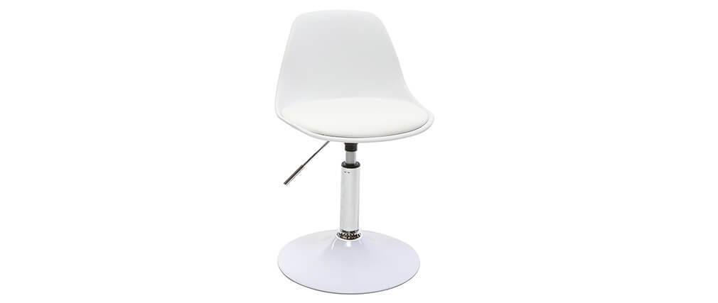 Silla de escritorio diseño infantil blanco STEEVY