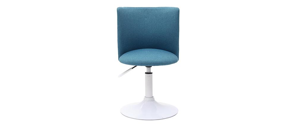 Silla de escritorio infantil azul petróleo y blanca NEW MARCHANDE