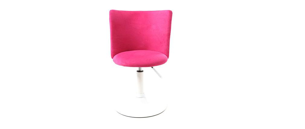 Silla de escritorio infantil rosa y blanca NEW MARCHANDE