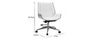Silla de escritorio madera clara y blanca CURVED
